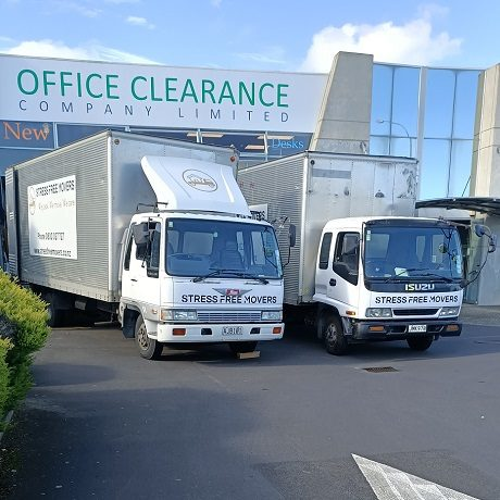 Office movers in Auckland trucks